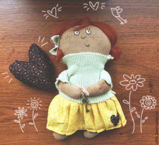 Ароматизированные куклы ручной работы. Ярмарка Мастеров - ручная работа. Купить Чердачная кукла Сентябринка. Handmade. Лимонный, чердачная кукла