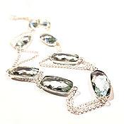 Украшения handmade. Livemaster - original item Long necklace, Apatite, silver,