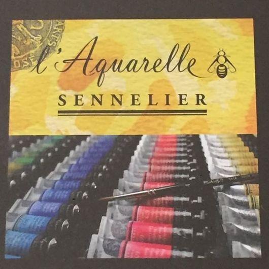 Другие виды рукоделия ручной работы. Ярмарка Мастеров - ручная работа. Купить Sennelier акварель в деревянной коробке. Handmade. Краски