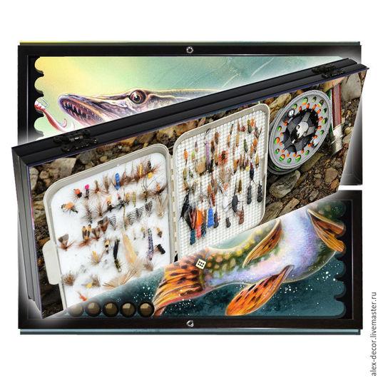 Настольные игры ручной работы. Ярмарка Мастеров - ручная работа. Купить Эксклюзивные нарды  FISHING (серия S). Handmade. Комбинированный