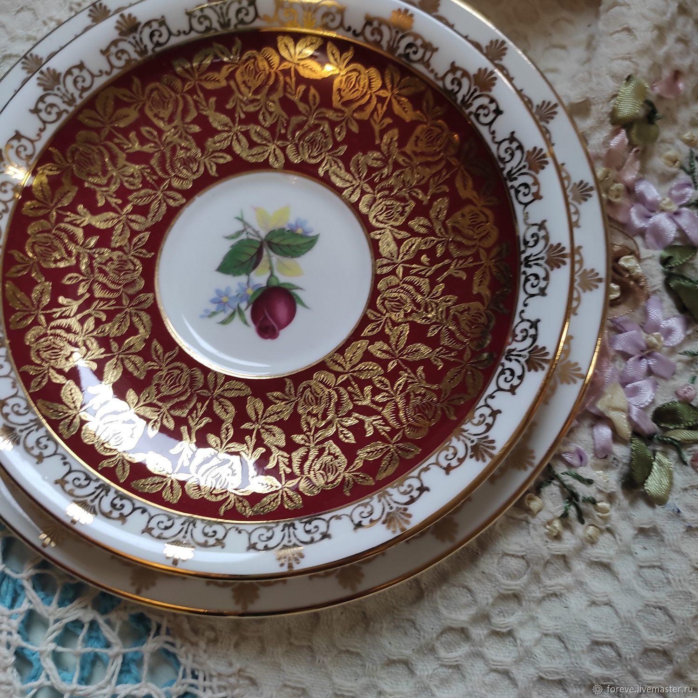 Set of saucers. England, Vintage plates, Belorechensk,  Фото №1