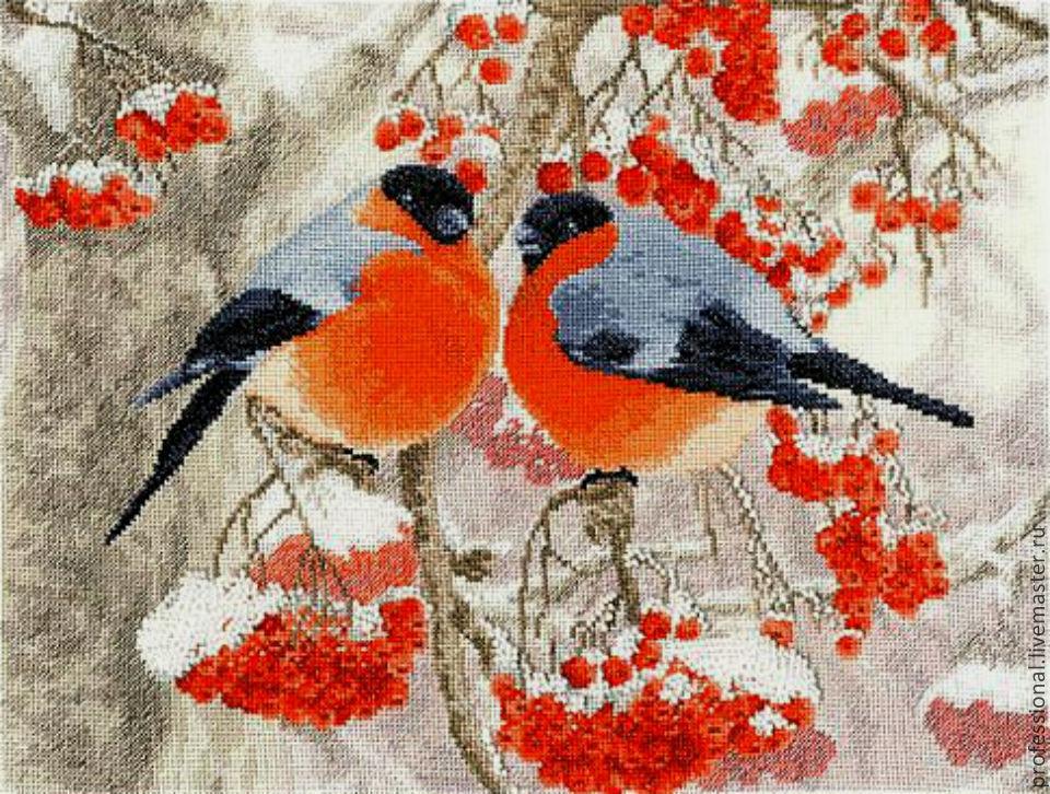 Схема для вышивки, птицы