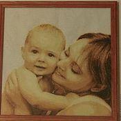 """Картины и панно ручной работы. Ярмарка Мастеров - ручная работа Вышитая картина """"Мой малыш"""". Handmade."""