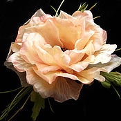 Украшения handmade. Livemaster - original item Silk flowers. Brooch hairpin PEACH POPPY. Natural silk.. Handmade.