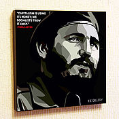 Картины и панно handmade. Livemaster - original item Painting Pop Art Fidel Castro. Handmade.