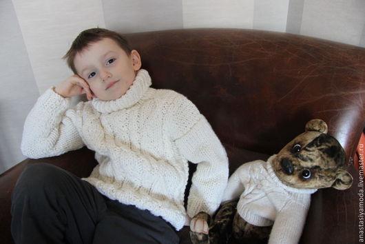 Одежда для мальчиков, ручной работы. Ярмарка Мастеров - ручная работа. Купить Детский свитерок. Handmade. Детский свитер, теплый свитер
