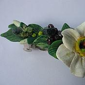 Украшения ручной работы. Ярмарка Мастеров - ручная работа Заколка дорогая гранат хризопраз цветок. Handmade.