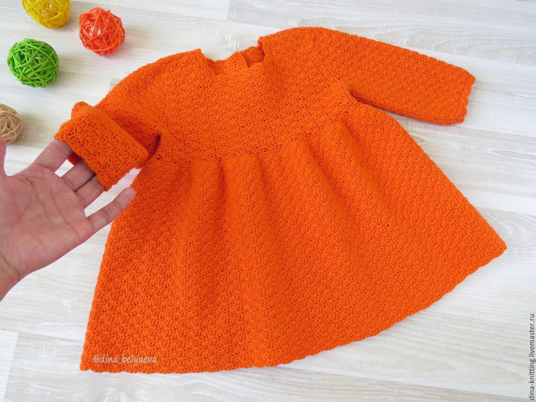 платье с рукавчиком на девочку 3 лет крючком схема