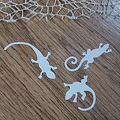 Материалы для творчества handmade. Livemaster - original item !Cutting for scrapbooking - 3 LIZARDS, GECKO, diz cardboard. Handmade.