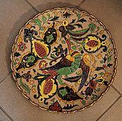 Картины и панно ручной работы. Ярмарка Мастеров - ручная работа тарель настенная с жарптицей. Handmade.