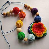 Работы для детей, ручной работы. Ярмарка Мастеров - ручная работа Радужный цветок. Handmade.
