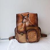 Сумки и аксессуары handmade. Livemaster - original item Women`s leather backpack with an engraving to order for Olga.. Handmade.