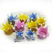 Работы для детей, ручной работы. Ярмарка Мастеров - ручная работа Маленькие короны для девочек - блестящие аксессуары на любое торжество. Handmade.