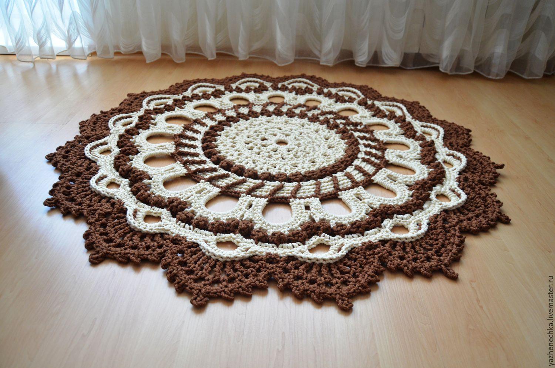 Вязаные коврики своими руками с фото