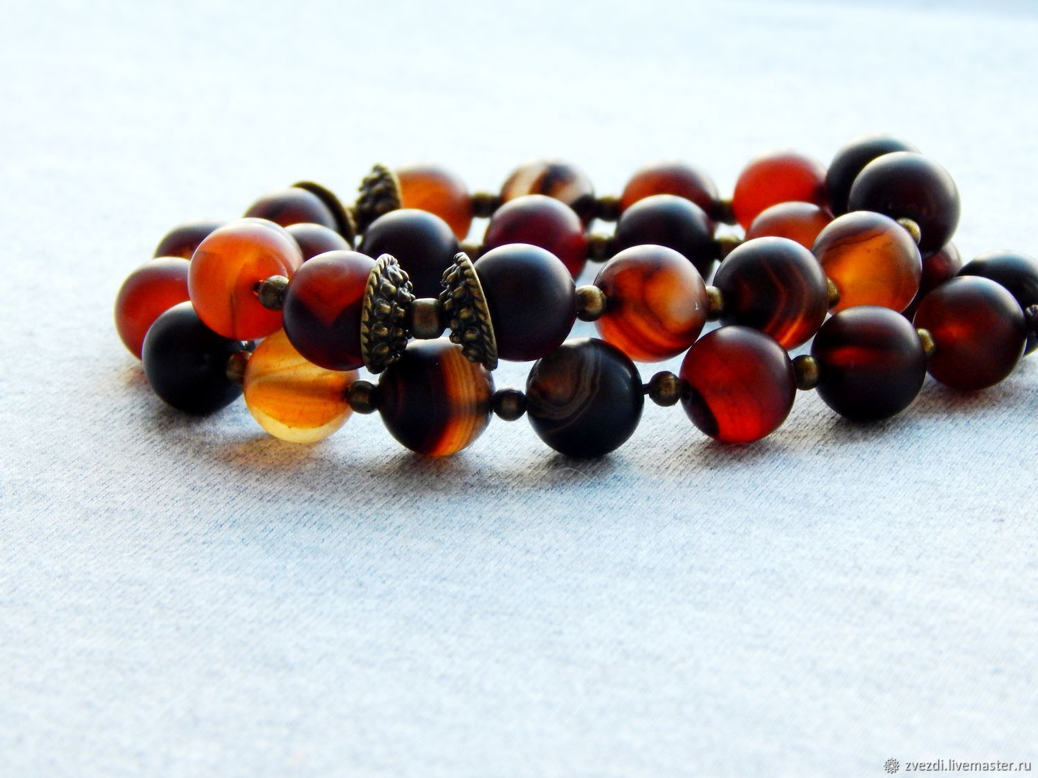 Infinity rosary made of agate 30 stones, Rosary, Minusinsk,  Фото №1