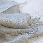 Аксессуары handmade. Livemaster - original item Grey Italian linen scarf