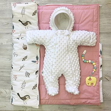 Товары для малышей ручной работы. Ярмарка Мастеров - ручная работа Комбинезон для малышей Little Kiddy плюш-минки. Handmade.
