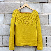 Одежда handmade. Livemaster - original item Pullover knitted women`s woolen patterned Merino. Handmade.