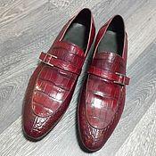 Обувь ручной работы handmade. Livemaster - original item The male monkey, crocodile leather, Burgundy color!. Handmade.