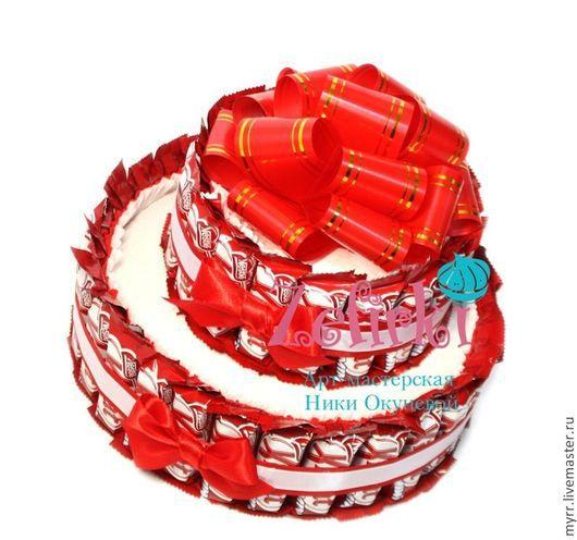 Букеты ручной работы. Ярмарка Мастеров - ручная работа. Купить ТОРТ из KitKat  девушке подарок ребёнку на день рождения подруге другу. Handmade.