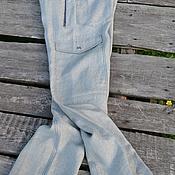 Одежда ручной работы. Ярмарка Мастеров - ручная работа Брюки  мужские льняные. Handmade.