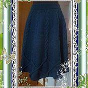 Одежда ручной работы. Ярмарка Мастеров - ручная работа Вязаная юбка полусолнце. Handmade.