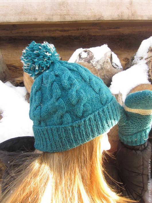 Шапки ручной работы. Ярмарка Мастеров - ручная работа. Купить Зимняя шапка женская. Handmade. Однотонный, теплая шапка