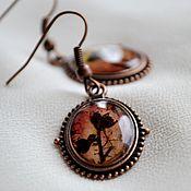 Украшения handmade. Livemaster - original item Vintage earrings (jewelry resin flowers alive) Tales of Holland. Handmade.