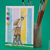 """Открытки ручной работы. Ярмарка Мастеров - ручная работа Открытка """"Том Сойер"""". Handmade."""