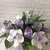 Косметика ручной работы handmade. Livemaster - original item Floral arrangement of soap in lavender tones. Handmade.