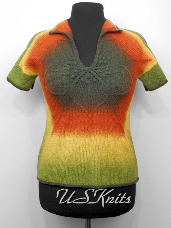 Women's knitted pullover made from pure wool yarn County