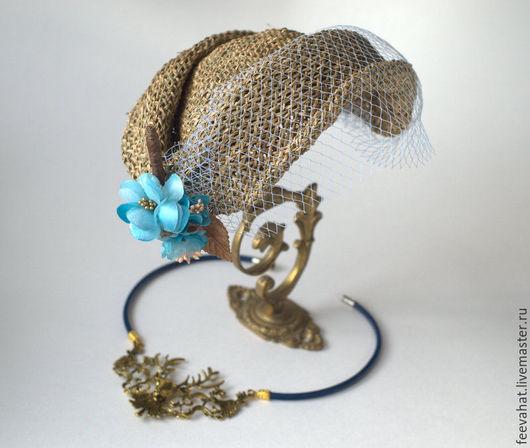 Шляпы ручной работы. Ярмарка Мастеров - ручная работа. Купить соломенная шляпка в стиле ретро винтаж. Handmade. Бежевый, песочный