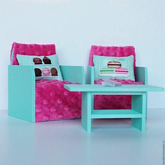 Кукольный дом ручной работы. Ярмарка Мастеров - ручная работа. Купить Два кресла и столик для куколок Monster High и др.. Handmade.