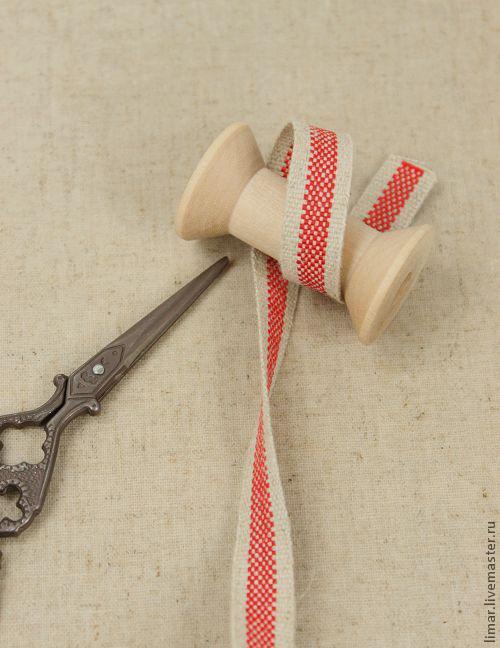Шитье ручной работы. Ярмарка Мастеров - ручная работа. Купить Тесьма декоративная, 13 мм. Handmade. Тесьма, хлопок