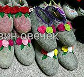 Обувь ручной работы. Ярмарка Мастеров - ручная работа Тапочки Розочки. Handmade.