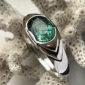 Украшения handmade. Livemaster - original item Handmade Emerald ring. 925 sterling silver. Handmade.