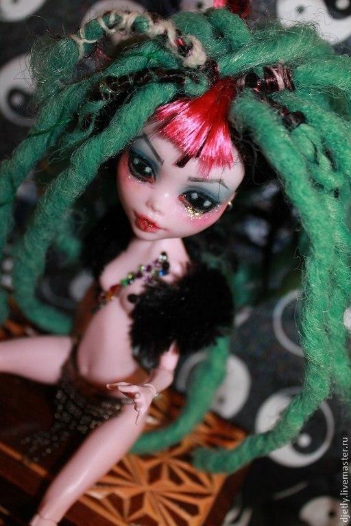 Коллекционные куклы ручной работы. Ярмарка Мастеров - ручная работа. Купить Мирана ООАК из МХ. Handmade. Зеленый, розовый, куклы