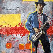 Картины и панно handmade. Livemaster - original item Painting on canvas. Jazz.. Handmade.