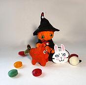 Куклы и игрушки ручной работы. Ярмарка Мастеров - ручная работа Тыквенный человечек. Handmade.