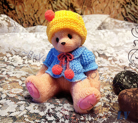 """Мыло ручной работы. Ярмарка Мастеров - ручная работа. Купить Мыло для рук """"Тедди в вязаном костюмчике"""". Handmade. Cherished teddy"""