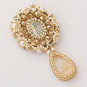 Украшения handmade. Livemaster - original item Pendant: Pendant brooch Journey to Italy, lace tatting e. Handmade.