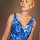 Dress 'Blue chrysanthemum'. Dresses. natakornakova (natakornakova). Online shopping on My Livemaster.  Фото №2