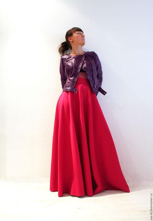 """Юбки ручной работы. Ярмарка Мастеров - ручная работа. Купить Длинная юбка полусолнце из шерсти """"Малинка"""". Handmade."""