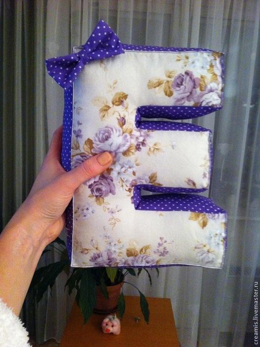 Текстиль, ковры ручной работы. Ярмарка Мастеров - ручная работа. Купить Мягкая буква Е. Handmade. Подушка, подушка-буква