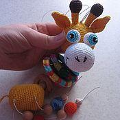 """Куклы и игрушки ручной работы. Ярмарка Мастеров - ручная работа Погремушка """"Жирафик"""". Handmade."""