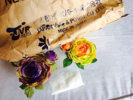 Ткань для цветов ручной работы. Ярмарка Мастеров - ручная работа. Купить Поливиниловый спирт - пвс. Handmade. Белый, для обработки ткани