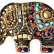 """Броши ручной работы. Ярмарка Мастеров - ручная работа. Купить Брошка """"Слоник"""" №5. Handmade. Слоник, слон, красный, коричневый"""