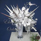 Цветы и флористика ручной работы. Ярмарка Мастеров - ручная работа Зима  (букет из конфет). Handmade.