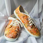 """Обувь ручной работы. Ярмарка Мастеров - ручная работа Кеды женские с """"Климт"""", кеды с рисунком, роспись кед.. Handmade."""