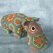 Мягкие игрушки ручной работы. Ярмарка Мастеров - ручная работа Бегемот Гипа мягкая игрушка крючком бегемот вязаный. Handmade.
